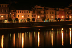 Quay -night scene Royalty Free Stock Photos