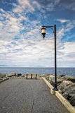 Quay. In Notre Dame du Portage Quebec, Canada Royalty Free Stock Images