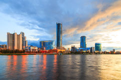 Quay Of Yekaterinburg, Evening, Russia Royalty Free Stock Photo