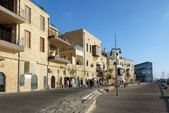 Quay in old Jaffa Royalty Free Stock Photos