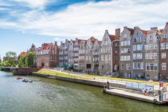 Quay of the old town and pier in Gdansk Royalty Free Stock Photos