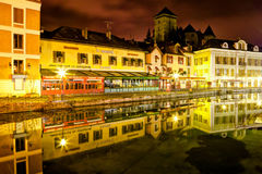 Quay Perriere, Annecy, France Stock Photos