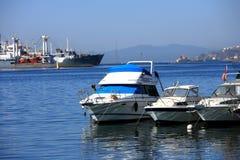 Quay of the port city Vladivostok Royalty Free Stock Photos