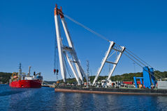 On the quay in the port of Halden Royalty Free Stock Image