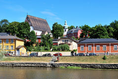 Quay in Porvoo Stockbild