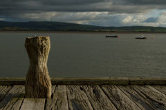 Quay post. royalty free stock images