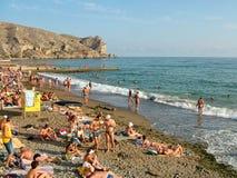 Quay przy górą Alchak w Sudak w Crimea Fotografia Royalty Free