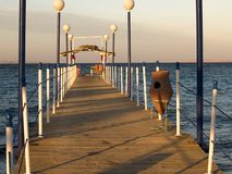 Quay. On Red sea. Sunset. Way to the sea Royalty Free Stock Photos