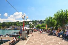 Quay. Resort Velden am Worthersee. Austria Royalty Free Stock Photography