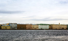 Quay of the river. Quay of the Neva river in Saint-Petersburg, Russia Stock Photos