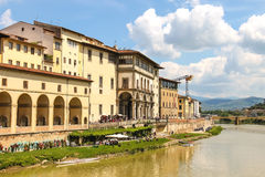 Quay of the river Arno of the ancient Italian city Florence Royalty Free Stock Photography