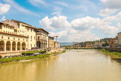 Quay of the river Arno of the ancient Italian city Florence. Royalty Free Stock Images