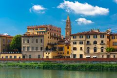 Quay of the river Arno in Florence, Italy Stock Images
