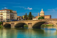 Quay of the river Arno in Florence, Italy Royalty Free Stock Photos