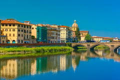 Quay of the river Arno in Florence, Italy Royalty Free Stock Image