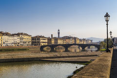 Quay of the river Arno Royalty Free Stock Image