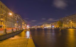 Quay of the river of Fontanka in St.-Petersburg. Royalty Free Stock Photography