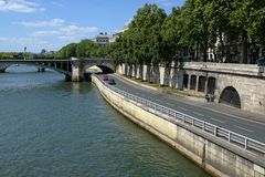 Quay of the river Seine Stock Photography