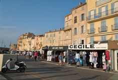 Quay in Saint-Tropez. On a clear summer day Stock Image