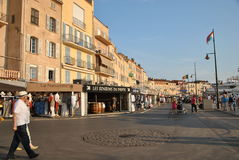 Quay in Saint-Tropez. On a clear summer day Stock Photo