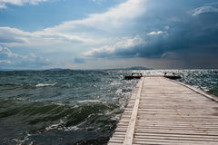 Quay. Seashore view with quay from Aegean sea Turkey Royalty Free Stock Photography