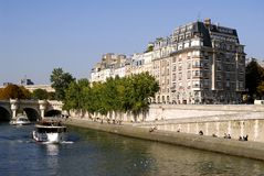 Quay from the Seine in Paris Royalty Free Stock Photo