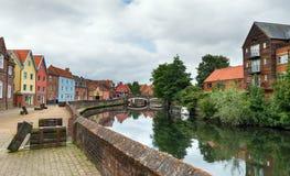 Quay-Seite in Norwich Lizenzfreies Stockbild