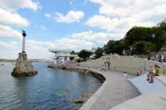Quay Sevastopol bay Stock Images