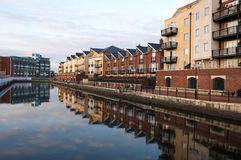 Quay side apartments royalty free stock images