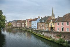 Quay Side and River Wensum, Norwich, UK Royalty Free Stock Photography