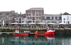 The quay side at Sutton Harbour, Plymouth, UK