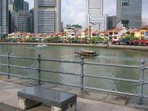 quay singapore шлюпки Стоковые Изображения