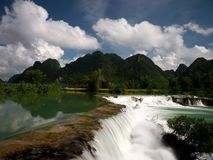 Quay Son River in Cao Bang, Vietnam. stock images