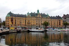 Quay in Stockholm Royalty Free Stock Photo