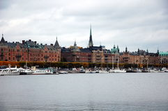 Quay in Stockholm, Sweden Royalty Free Stock Photos