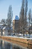 The quay of Strasbourg during winter Royalty Free Stock Photos