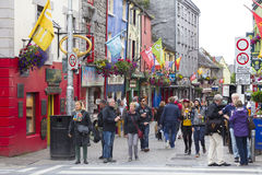 Quay street Galway. Poeple in Quay street , Galway, Ireland Stock Photography
