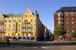 Quay Street of Helsinki. In summer royalty free stock photography