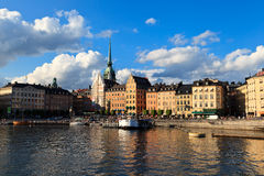 Quay in summer Stockholm Royalty Free Stock Photo