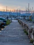 Quay sur la marina de Genève Images stock