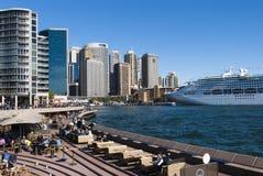 Quay - Sydney Harbour - Australia circulares Fotografía de archivo libre de regalías