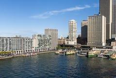Quay - Sydney Harbour - Australia circulares Imagenes de archivo