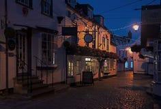 Quay Uliczny Lymington przy nocą Obraz Royalty Free