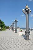 Quay, uma cidade do turista de Rússia Foto de Stock