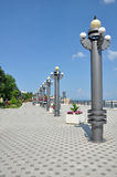 Quay, une ville de touristes de la Russie Photo stock