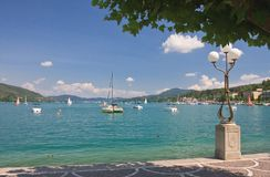 Quay.  Velden am Worthersee. Austria Royalty Free Stock Photo