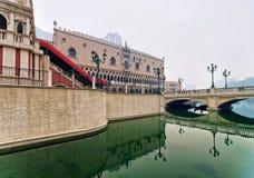 Quay of Venetian Macao Hotel and Casino luxury resort Macau Royalty Free Stock Photo