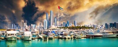 Quay w Abu Dhab obraz royalty free