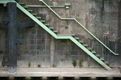 Quay wall with stairs Stock Images
