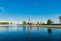 Quay wharf embankment Yekaterinburg City. Royalty Free Stock Photography